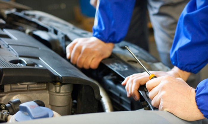 Auto Plus - Multiple Locations: Deluxe Oil-Change Package or Three Oil Changes with Inspections at Auto Plus (Up to 63% Off)
