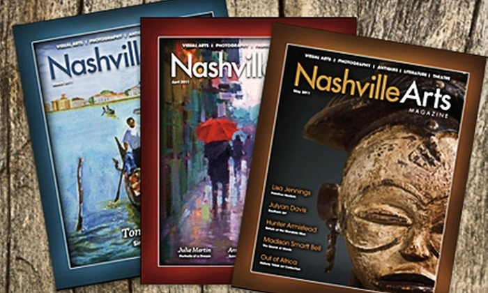 """Nashville Arts Magazine"" - Memphis: $22 for 12 Issues of ""Nashville Arts Magazine"" ($45 Value)"