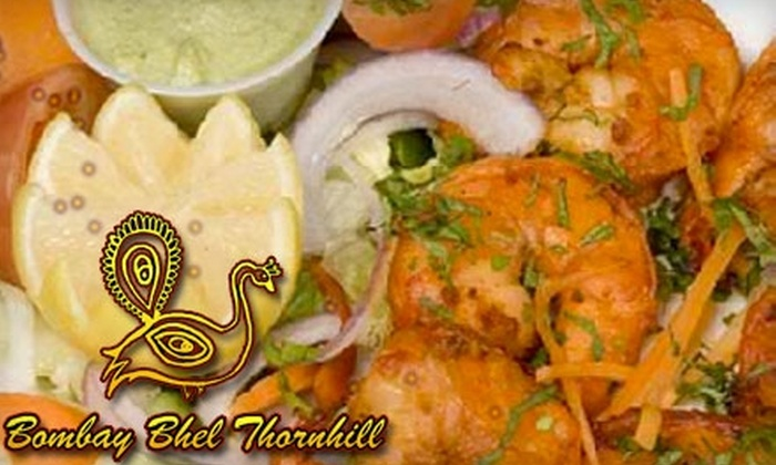 Bombay Bhel Thornhill - Thornhill: $14 for $30 Worth of Indian Cuisine and Libations at Bombay Bhel Thornhill