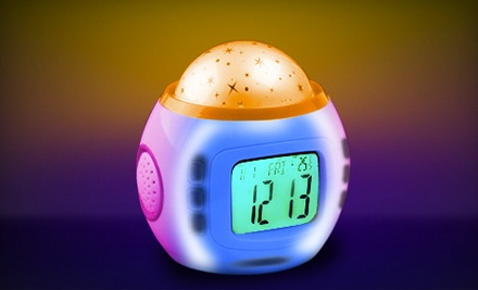 One Light-Projecting Starry Nite Time Alarm Clock (a $30 value) - Starry Nite Time by Tazl in
