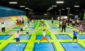XDrenaline: Trampoline Jumping and Rock Climbing at XDrenaline (Up to 47% Off)