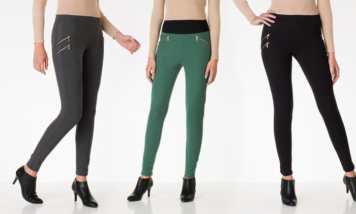 Poof Apparel Leggings: Poof Apparel Ponti or Double-Zipper Leggings. Multiple Styles Available. Free Shipping and Returns.