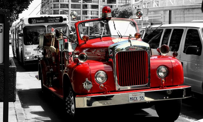 San Francisco Fire Engine Tours & Adventures - San Francisco Fire Engine Tours & Adventures: Holiday Lights Tour for One, Two, or Four from San Francisco Fire Engine Tours & Adventures ($75 Value)