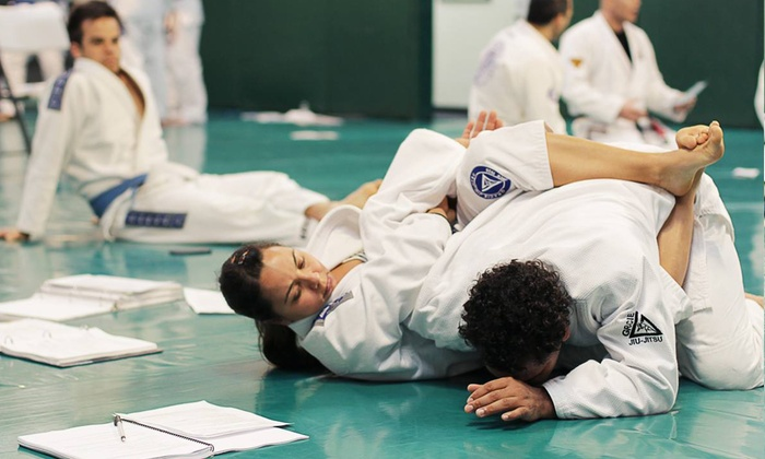 Gracie Jiu-Jitsu Academy - Northwest Torrance: One Month of Jiu-Jitsu Classes for Kids or Adults from Gracie Jiu-Jitsu Academy (75% Off). Three Options Available.