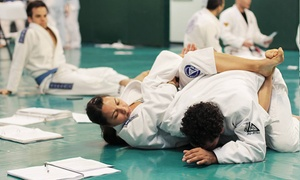 Gracie Jiu-Jitsu Academy: One Month of Jiu-Jitsu Classes for Kids or Adults from Gracie Jiu-Jitsu Academy (75% Off). Three Options Available.