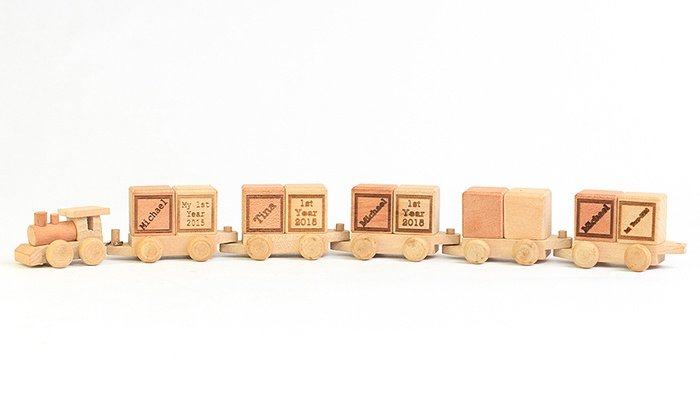 MonogramHub: $5 for a Personalized Wooden Train from MonogramHub ($29.99 Value)