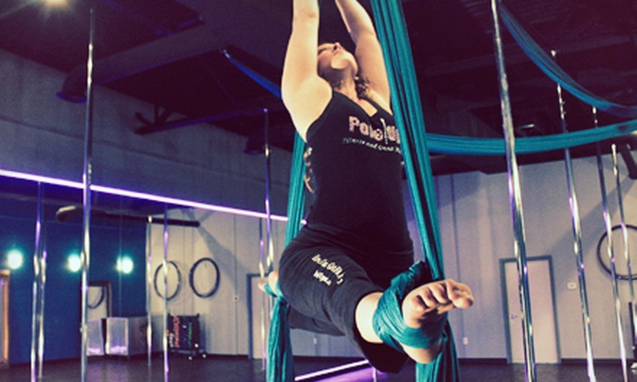 Pole Up Fitness and Dance Studio - Indianapolis: Intro to Pole or Intro to Aerial Silks Class, or 5 or 10 Classes at Pole Up Fitness and Dance Studio (Up to 59% Off)