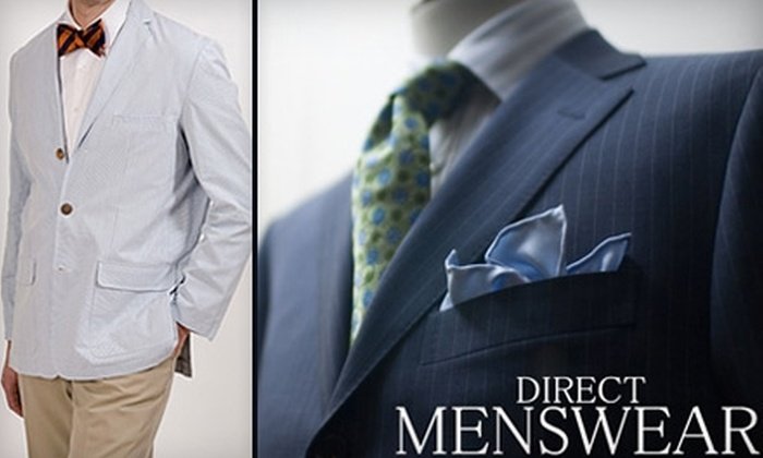 Direct Menswear - Richmond: $25 for $50 Worth of Men's Apparel and Accessories at Direct Menswear