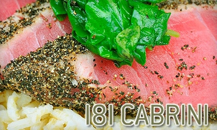 181 Cabrini - Washington Heights: $15 for $30 Worth of Bistro Fare and Drinks at 181 Cabrini