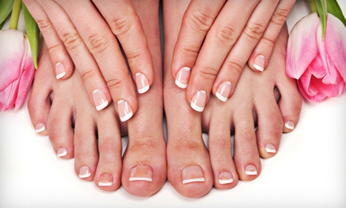 Sunflower Nails - Riley Park: $29 for Sunflower Signature Spa Manicure and Pedicure at Sunflower Nails ($70 Value)
