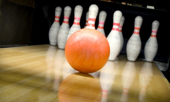 The Alley - Wichita: $35 for 1.5 Hours of Bowling and Shoe Rental for up to Six People, Plus 40 Arcade Tokens at The Alley (Up to $75 Value)