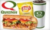 Quiznos - King Edward: $5 for $10 Worth of Subs and Sips at Quiznos