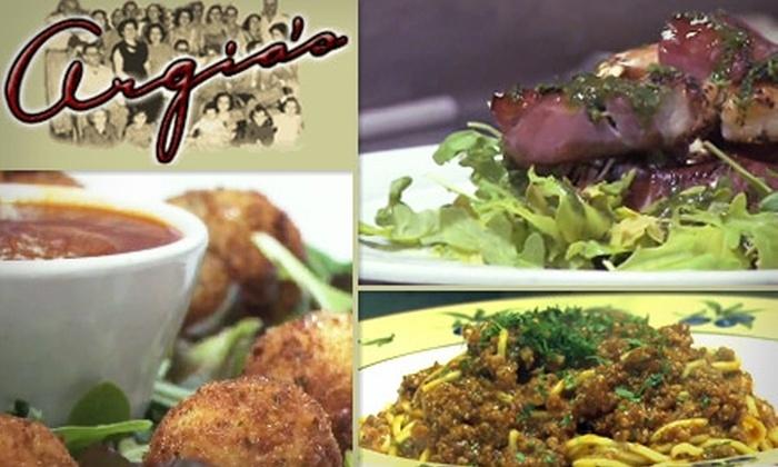 Argia's Restaurant - Falls Church: $20 for $40 Worth of Italian Cuisine and Drinks at Argia's