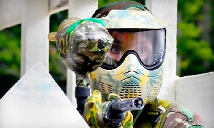 Skirmish USA - Albrightsville: $24 for All-Day Paintball Admission and Equipment Rental at Skirmish USA in Albrightsville ($54 Value)