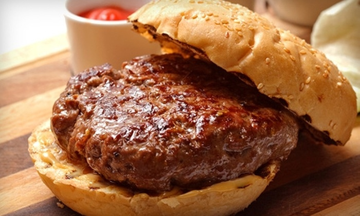 Heartland Brewery - Midtown South Central: $6 for One Burger at Heartland Brewery in the Empire State Building in Midtown (Up to $16.95 Value)