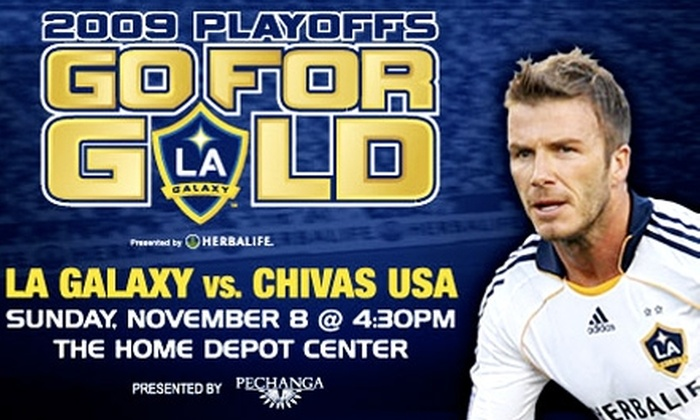 LA Galaxy - Los Angeles: LA Galaxy Playoff Tickets. Buy Here for 11/8/09 vs. Chivas USA for $15 ($34 Value). Additional Tickets and Prices Below.