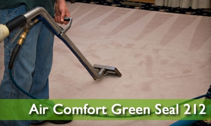 Air Comfort Green Seal 212 - Colorado Springs: $55 for an Eco-friendly Carpet Cleaning and Air-Sanitizing Fog from Air Comfort Green Seal 212 ($188.99 Value)