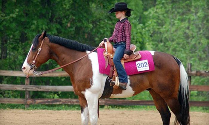 PDQ Farm - Franklinton: One or Four Horseback-Riding Lessons at PDQ Farm in Franklinton