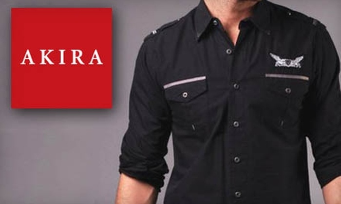 Akira for Men - Multiple Locations: $15 for $30 Worth of Men's Apparel and Accessories at Akira for Men