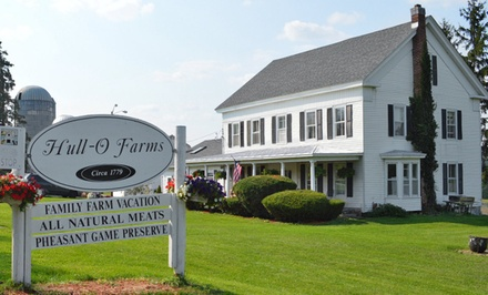 Groupon Deal: 1- or 2-Night Stay for Two Adults and Two Children at Hull-O Farms Family Farm Vacations in Durham, NY.