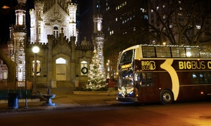 Big Bus Tours-Chicago: Holiday Express Night Tour Package with Admission to 360 Chicago at The Hancock from Big Bus Tours