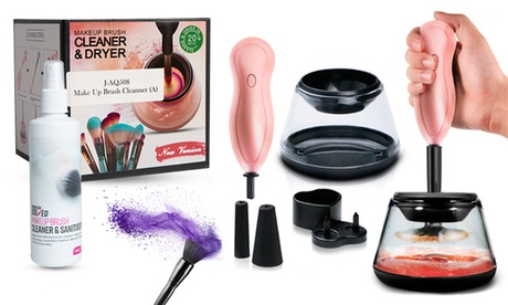 Kit de limpieza para pinceles y brochas de maquillaje, con o sin spray de limpieza