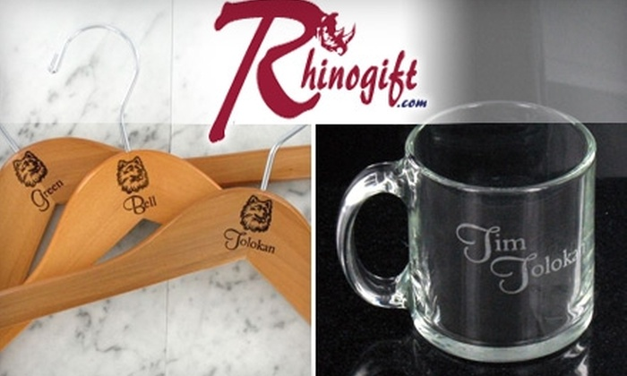 RhinoGift.com - Glastonbury: $25 for $60 Worth of Personalized Gifts from RhinoGift.com