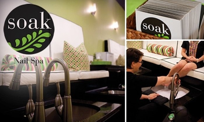 Soak Nail Spa - Southeastern Columbia: $35 for a Basic Manicure and Pampered Pedicure at Soak Nail Spa ($70 Value)