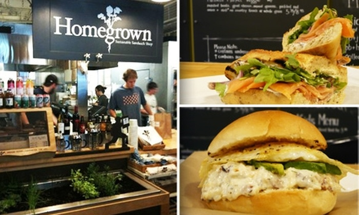 Homegrown Sustainable Sandwich Shop - Fremont: $5 for $10 Worth of Breakfast Food at Homegrown
