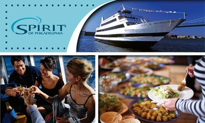 "Spirit Cruises - Philadelphia: $49 for a Ticket to a Three-Hour ""Spirit of Philadelphia"" Dinner Cruise of Your Choice from Spirit Cruises (Up to $99.03 Value)"