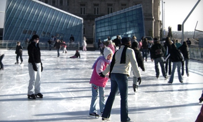 Brenton Skating Plaza - East Village: 10 Ice-Skating Sessions with Skate Rental or 4 Skating Lessons on Saturday or Monday at Brenton Skating Plaza (Half Off)