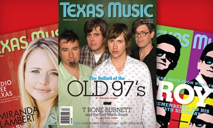 """Texas Music Magazine"" - Mesquite: $7 for One-Year Subscription to ""Texas Music"" Magazine ($15 Value)"
