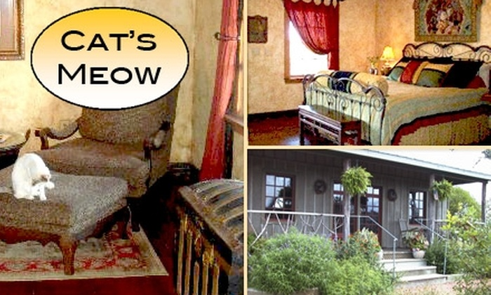 The Cat's Meow Bed & Breakfast - Fredericksburg East: $49 for a $115 Voucher Toward a Romantic, Secluded Getaway at The Cat's Meow Bed & Breakfast