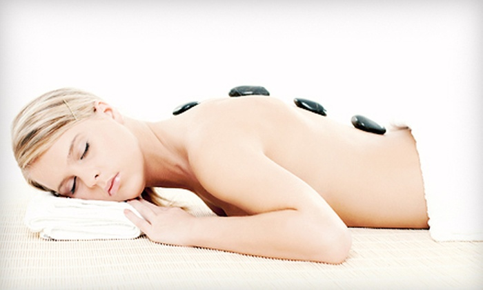 Ageless Beauty Day Spa - Riverside: Hot-Stone Massage with or Without Mani-Pedi at Ageless Beauty Day Spa (Up to 55% Off)
