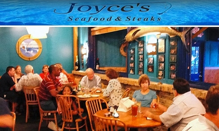 Joyce's Seafood & Steaks - Great Uptown: $15 for $30 Worth of Fresh Surf and Turf Fare at Joyce's Seafood and Steaks
