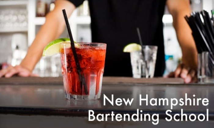 New Hampshire Bartending School - Multiple Locations: Bartending Classes at the New Hampshire Bartending School in Hudson. Choose from Three Options.