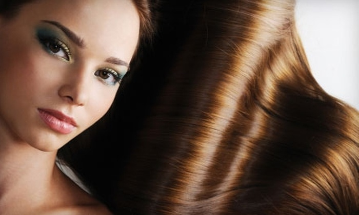 Exquisite Cuts by Lorrie Caballero - Lubbock: $125 for Keratin Hair-Straightening Treatment ($250 Value) or $18 for Women's Design Cut (Up to $37 Value) from Lorrie Caballero at Renaissance European Spa