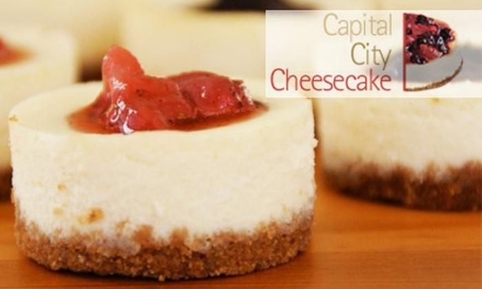 Capital City Cheesecake - Takoma - DC: $15 for a Dozen Miniature Cheesecakes from Capital City Cheesecake ($30 Value)