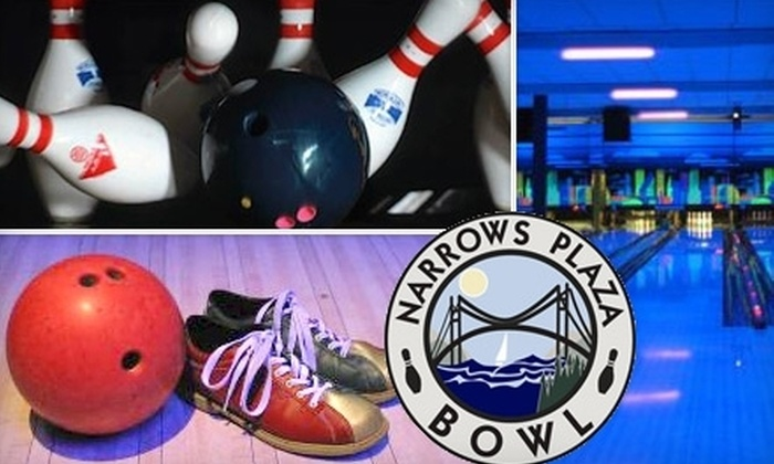 Narrows Plaza Bowl - Fircrest: $30 for Two Hours of Glow Bowling for Up to Five Bowlers Including Shoe Rental and Food-Court Discount at Narrows Plaza Bowl