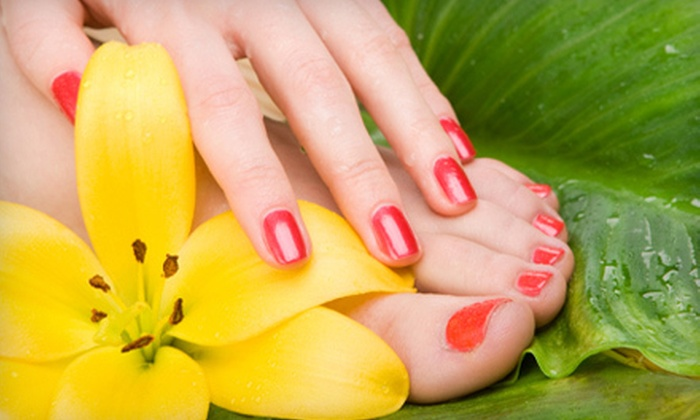 Hair Razors Salon and Spa - Sherwood: One, Three, or Five Shellac Manicures or Pedicures at Hair Razors Salon and Spa in Sherwood (Up to 57% Off)