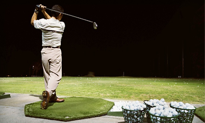 Odyssey Sweet Spot Sports Bar and Driving Range - Tinley Park: $13 for Three Large Buckets of Driving-Range Balls at Odyssey Sweet Spot Sports Bar and Driving Range in Tinley Park ($27 Value)