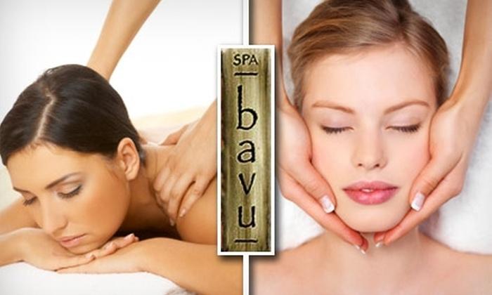 Spa Bavu - Center City East: $60 Massage and Facial at Spa Bavu ($107 Value)