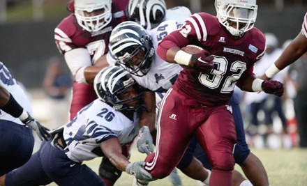 Ticketmaster: Howard University Bison vs. Morehouse College Maroon Tigers at RFK Stadium on Sat., Sept. 10 at 3:30PM: Red Section Seating - Howard vs. Morehouse Football Game in Washington
