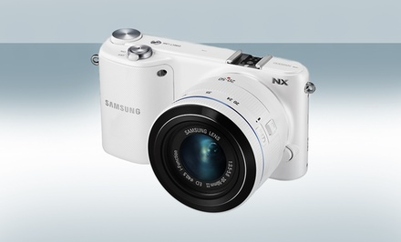 groupon daily deal - Samsung NX2000 20.3MP Smart WiF Compact System Digital Camera with 20-50mm Lens and Photoshop Lightroom. Free Returns.