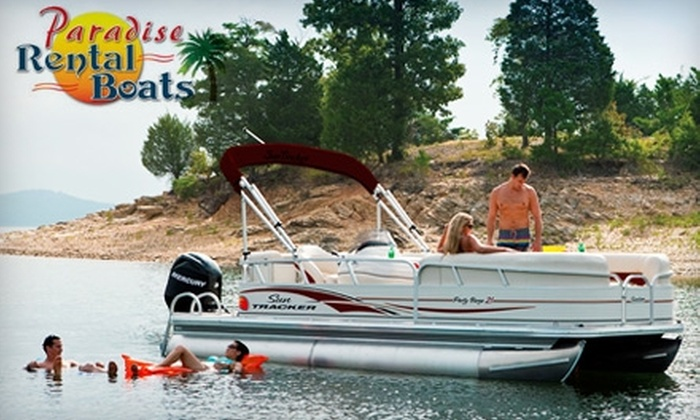 Paradise Rental Boats - Clear Creek: Four-Hour Boat Rental on Lake Monroe from Paradise Rental Boats in Bloomington. Choose from Three Options.