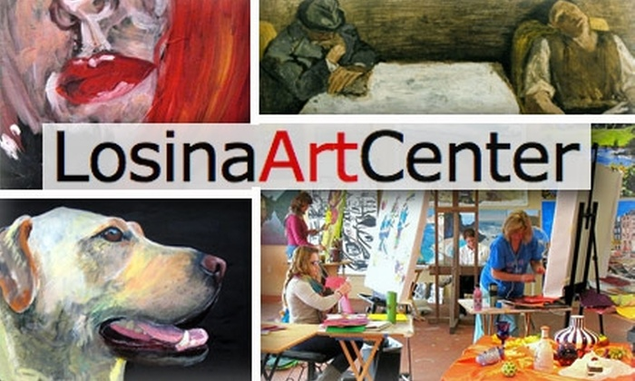 Losina Art Center - Midway District: $35 for Four Art Classes at Losina Art Center ($99 Value)