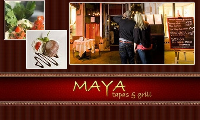 Maya Tapas & Grill - Multiple Locations: $15 for $38 Worth of Tapas and More at Maya Tapas & Grill on Ocean Drive