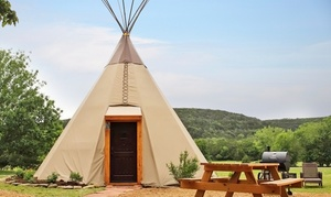 Modern Tipis in Texas Hill Country