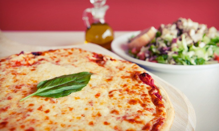 Michelangelo's Pizza - Holly Springs: $12 for a Large Pizza, Garlic Knots, and Salad for Up to Four at Michelangelo's Pizza (Up to $24.88 Value)
