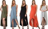 Lyss Loo Rock and Ready Sleeveless High-Low Maxi Dress